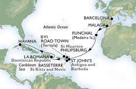 itinerario msc opera