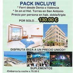 Oferta Ibiza 3 noches salida Denia y Valencia