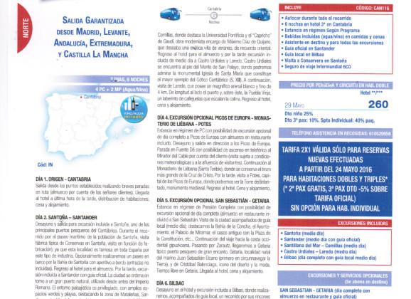 2×1 Cantabria y País Vasco 29 de Mayo 2016