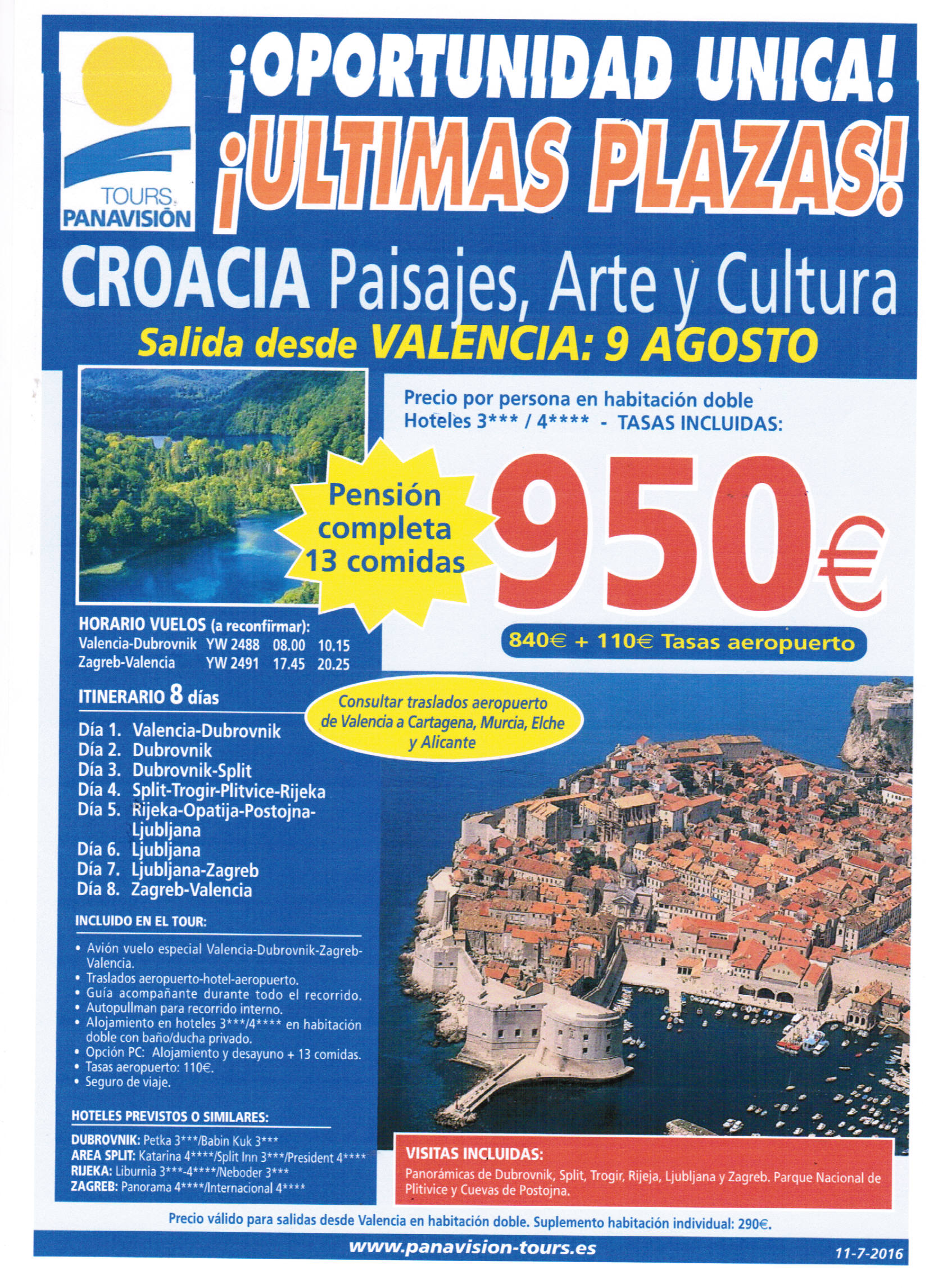 oferta croacia